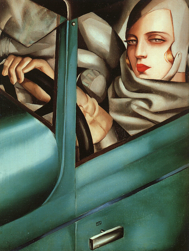 Lempicka, Tamara de (1898-1980) - 1925 Autoportrait en Bugatti verte (Collection privée)