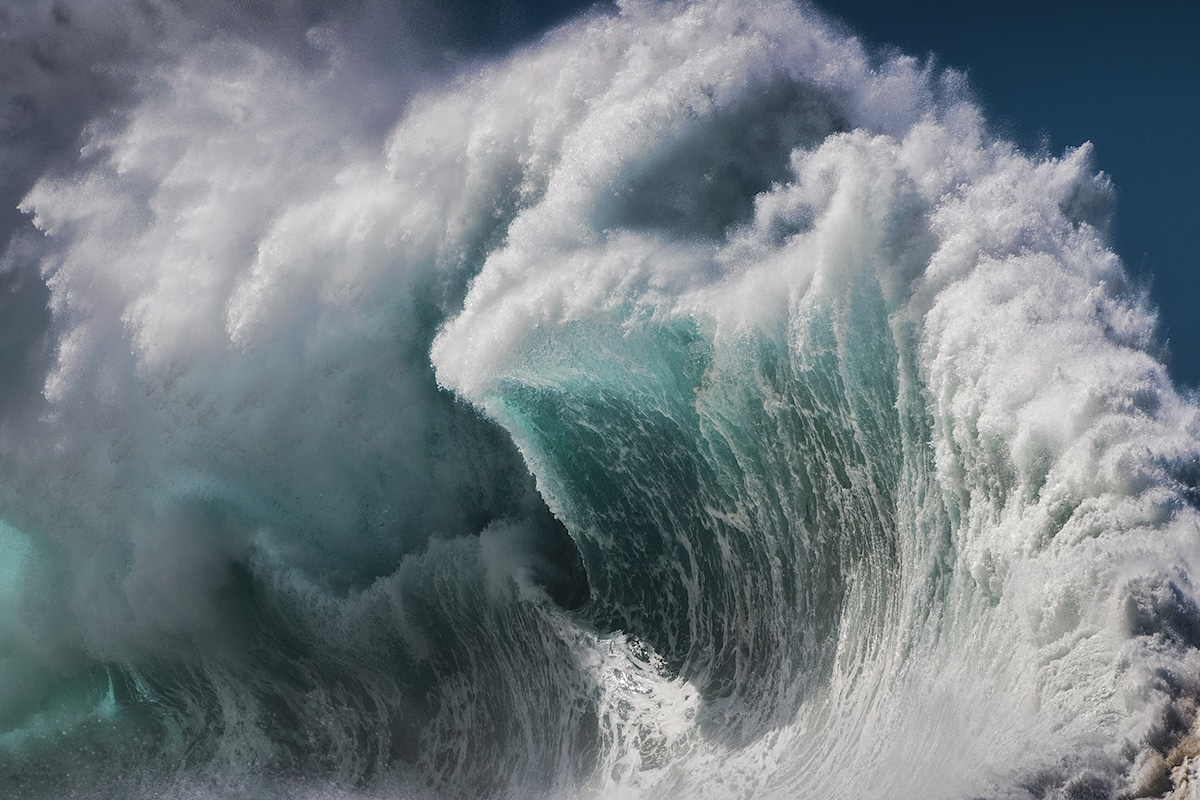 La photo en gros plan de Crashing Wave