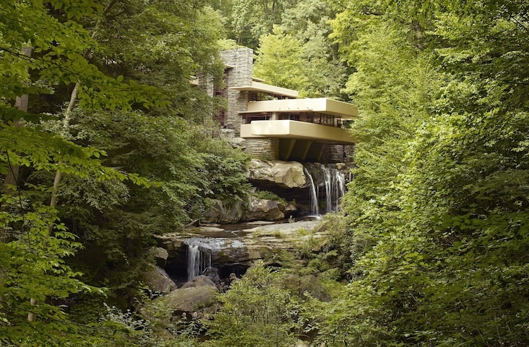 Fallingwater Falling Water Frank Lloyd Wright Architecture organique