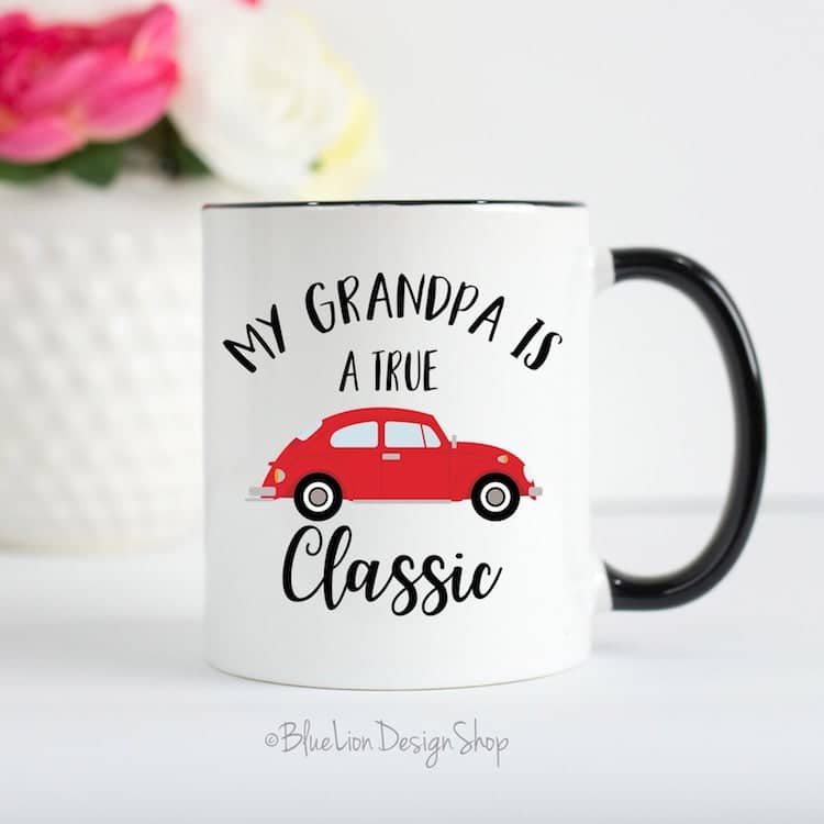Tasse Papy par Blue Lion Design Shop