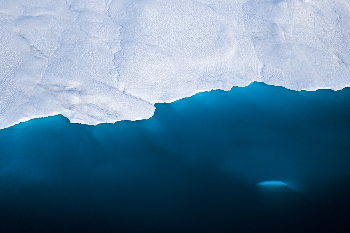 Photo abstraite d'un iceberg