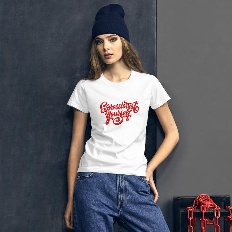 T-shirt 'Expressionist Yourself' pour femme