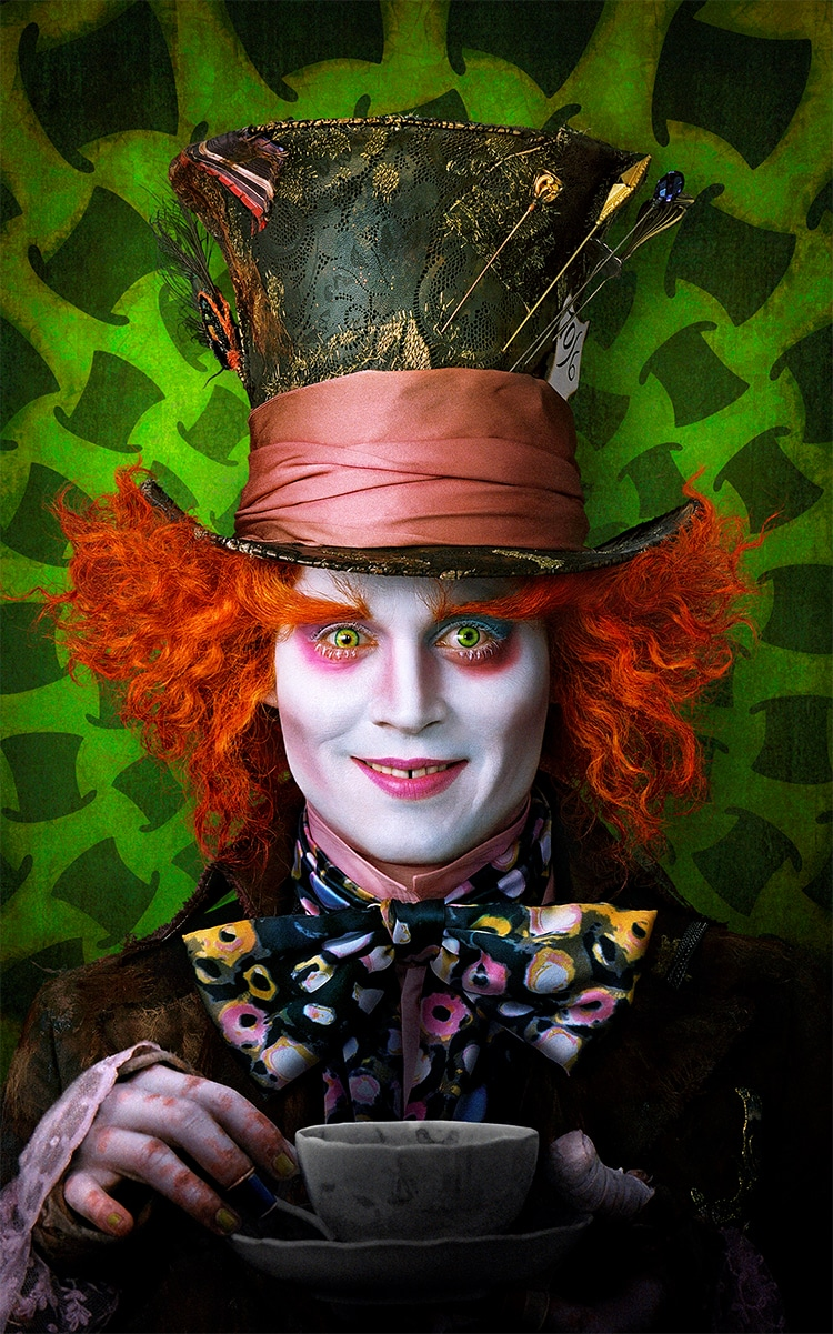 Johnny Depp Mad Hatter de Colleen Atwood, Costume pour Tim Burton