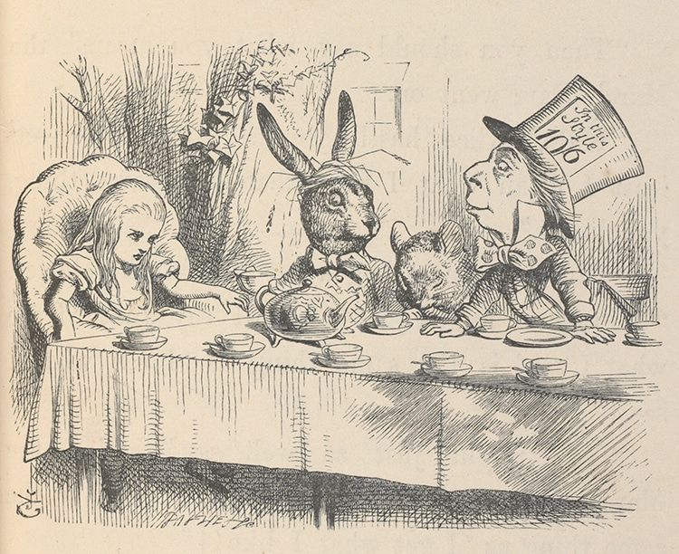Illustration de John Tenniel Mad Hatters Tea Party