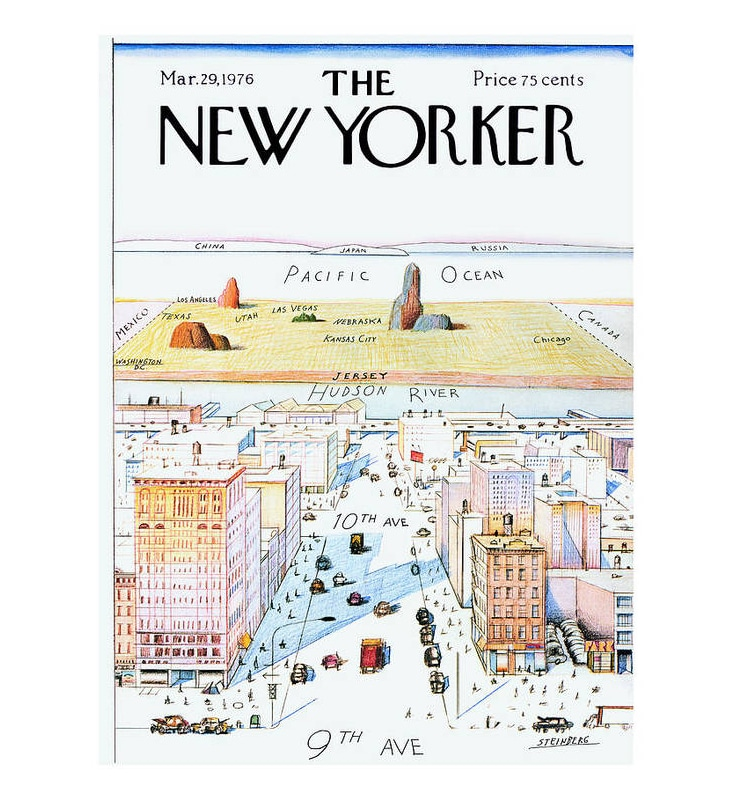 Couverture du New Yorker 29 mars 1976 Poster