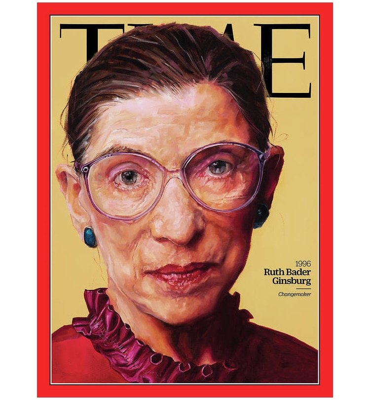 Affiche de Ruth Bader Ginsberg Peinture pour Time Magazine