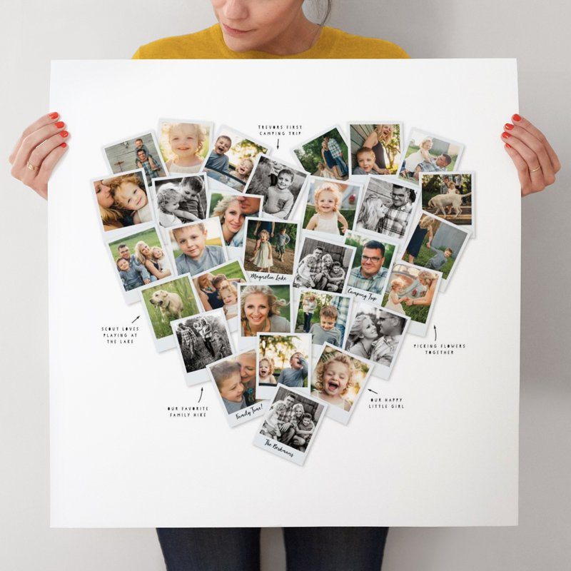 Collage Heartsnap de Minted